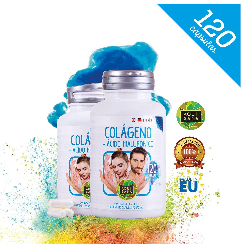 Colágeno hidrolizado con ácido hialurónico, Vitaminas C, Zinc para piel, huesos: Amazon.es: Salud y cuidado personal