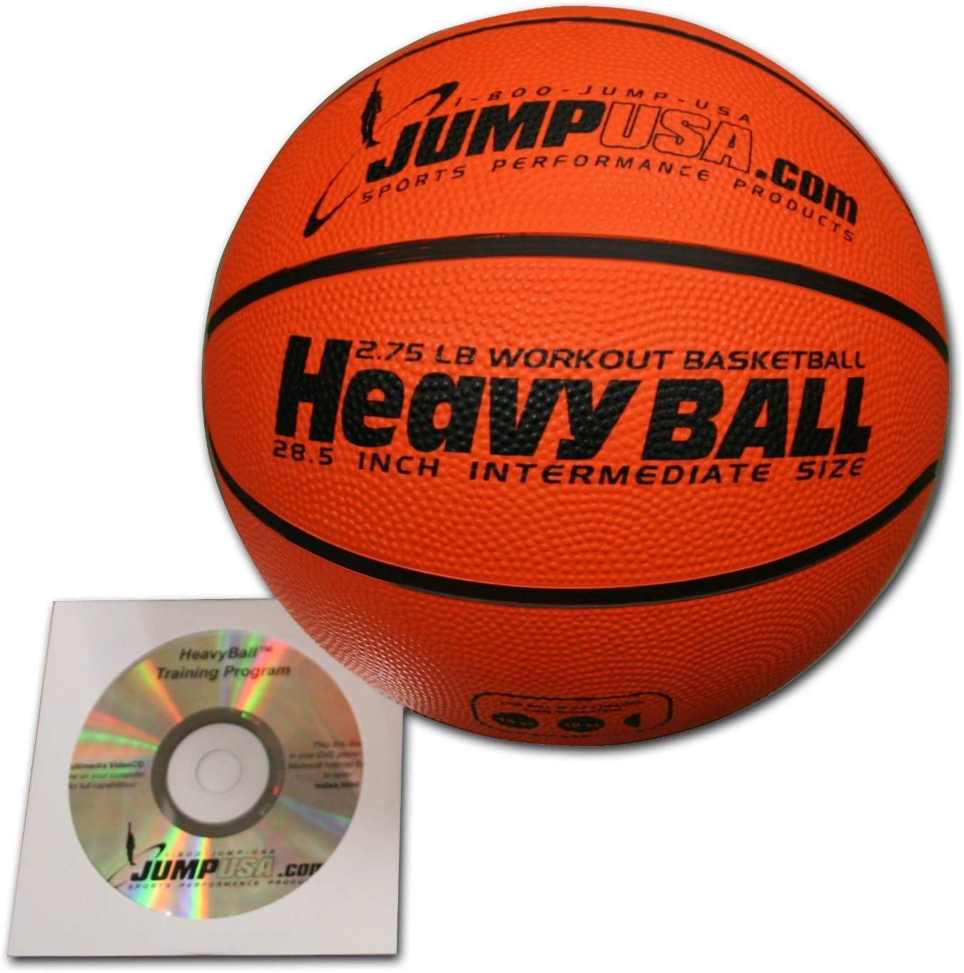 4 -パックHeavyボール3lb Weightedトレーナーバスケットボール28.5 hi-carbon Rubber withスキルビデオ
