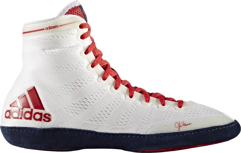 plan de estudios Tan rápido como un flash Escalera  Adidas Adizero Varner Wrestling 14 Ringer Shoes Core  White/Scarlet/Collegiate Navy, M18728 Size:5.5 uk: Amazon.co.uk: Shoes &  Bags