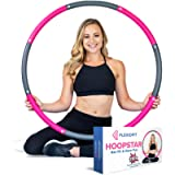 FlexioFit Weighted Hula Hoop for Adults with 30 Minute Workout Video - 2lb Exercise Hoola Hoop with Smooth Performance…