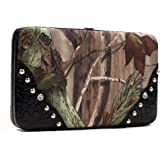 Realtree Camouflage Frame Checkbook Wallet with Studs Accent