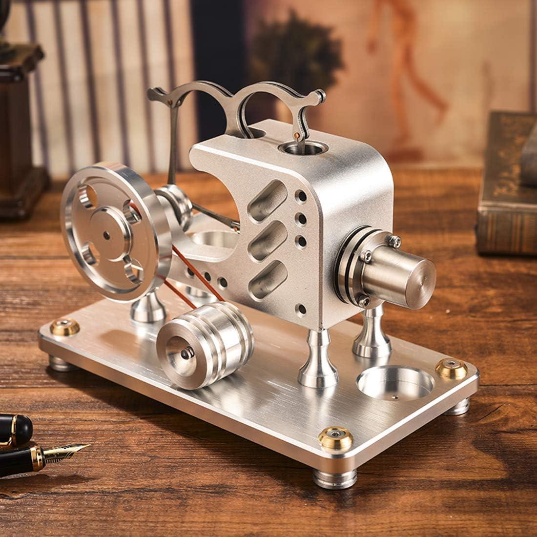 AMITD - Motor Externo de combustión para Motores de Stirlingmotor, Metal y balancín, Color Plateado: Amazon.es: Deportes y aire libre