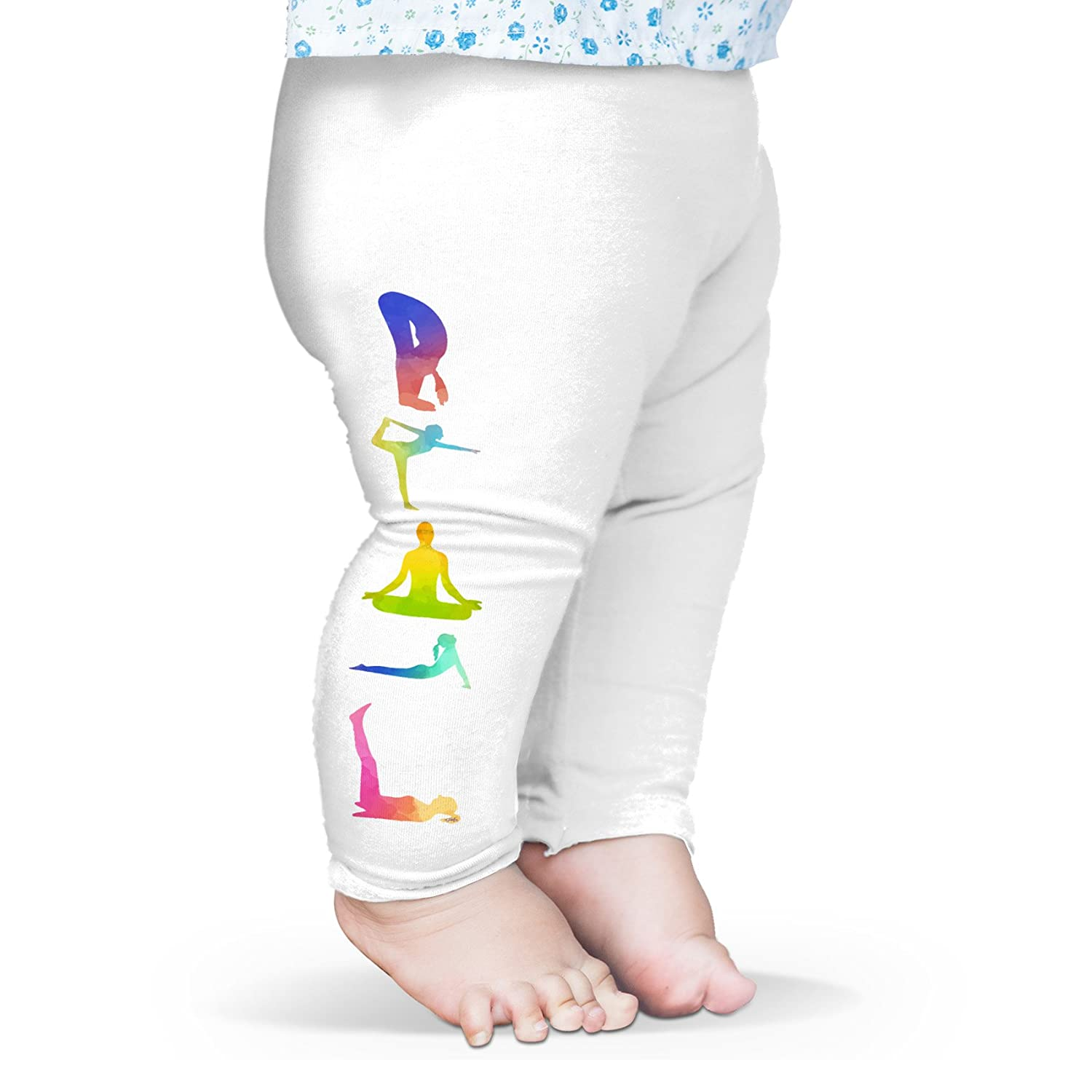 TWISTED ENVY Yoga Poses Baby Printed Leggings Trousers