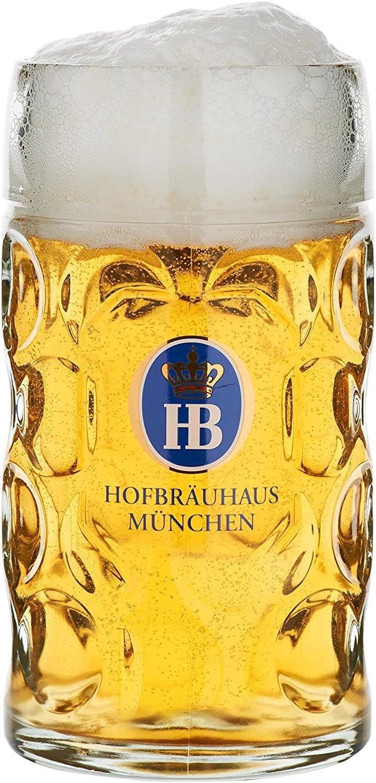 HB Hofbräuhaus München Jarra de Cerveza Alemana Múnich Hofbräuhaus München HB 0,5 litros King Werk KI 1000062