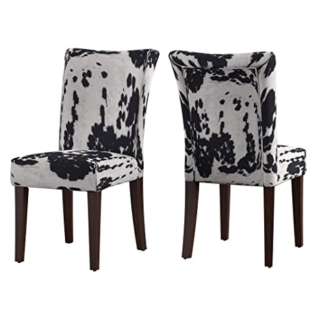 Astonishing Union 5 Home Vichy Black Print Parsons Dining Side Chair Set Of 2 Bralicious Painted Fabric Chair Ideas Braliciousco