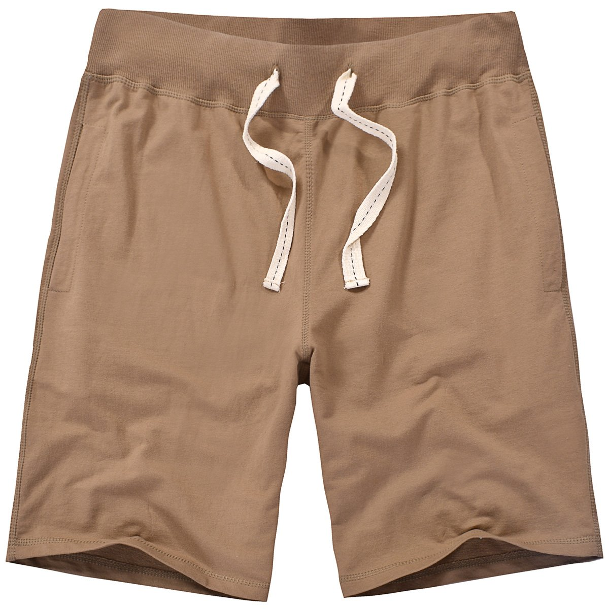 Amy Coulee Men's Cotton Casual Short with Pockets (S, Brown)