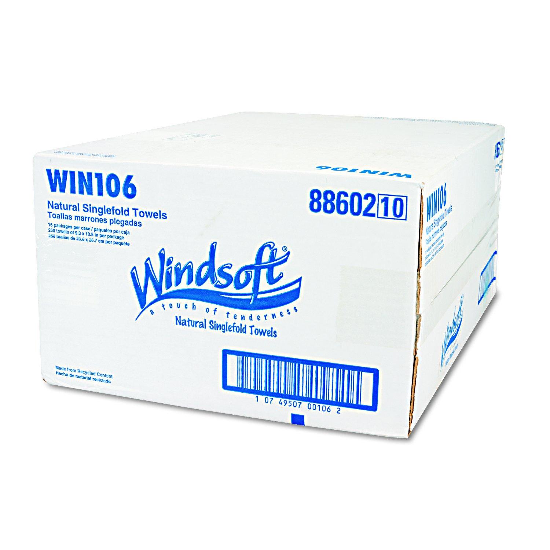 Windsoft 106 Embossed Singlefold Towels, 9-3/10