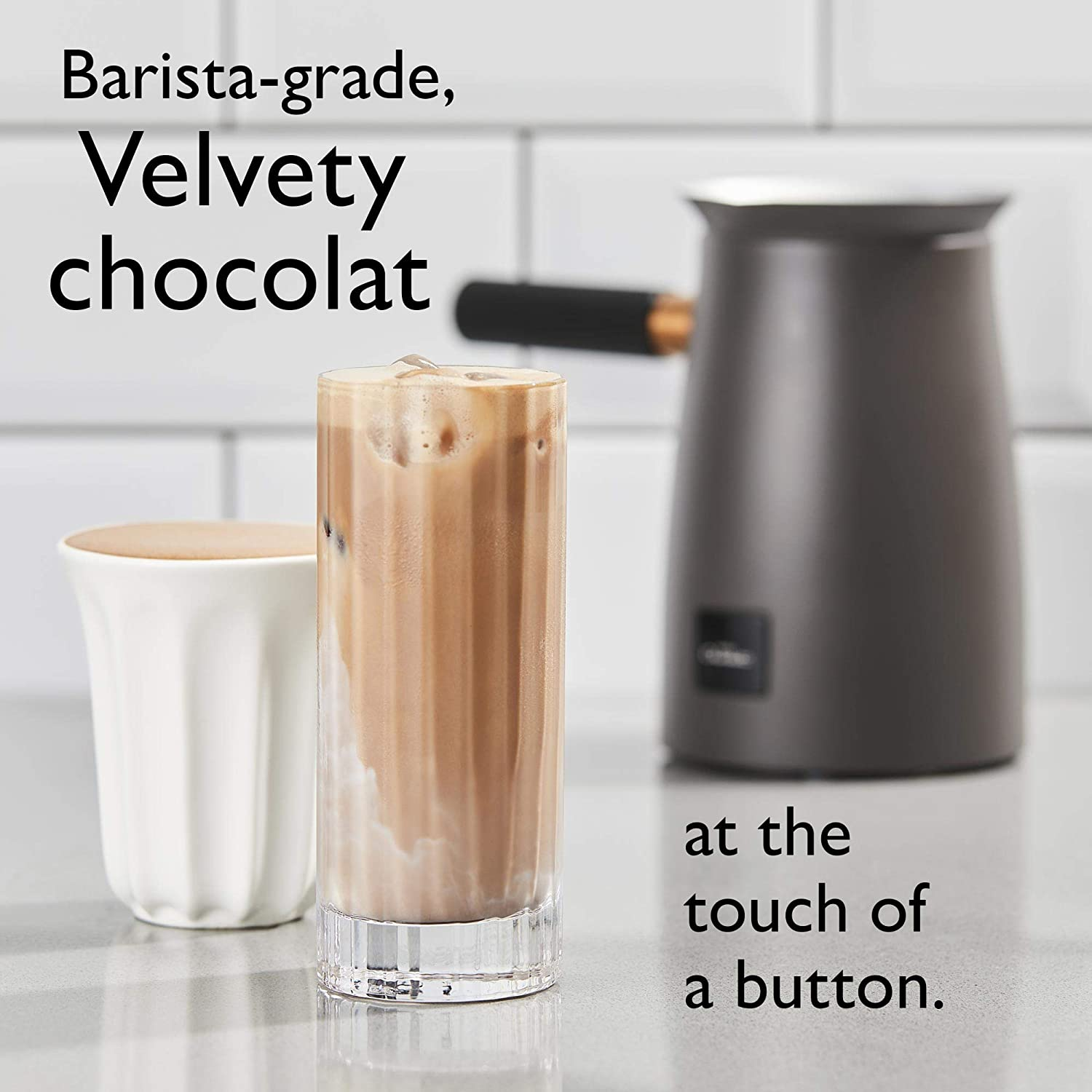 Hotel Chocolat Velvetiser Hot Chocolate Machine, Copper Charcoal