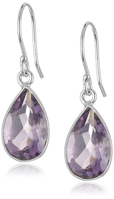 2801e3ca1e24c4 Amazon.com: Amethyst Pear Dangle earrings: Jewelry