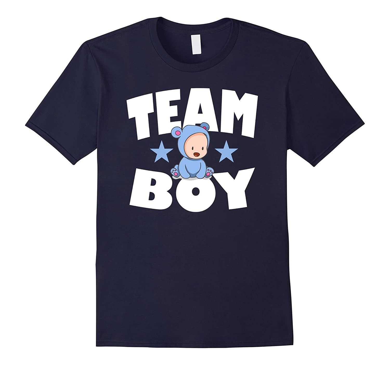 Baby Shower Team Boy Gender Reveal T-Shirt-TJ