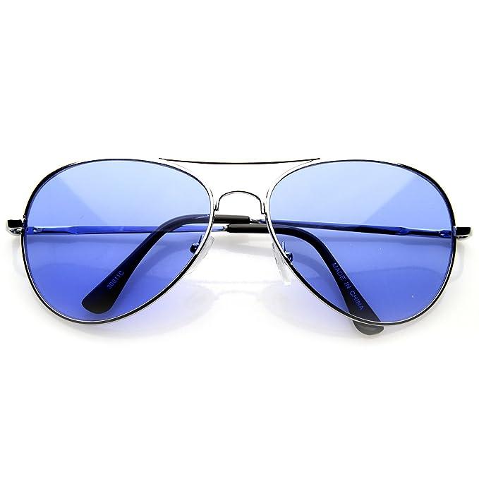 5f51f5ef74 HOTLOVE Premium Quality Fashion Unisex Sunglasses UV400 Lens Technology –  Aviator 30011c Blue Lens with Light