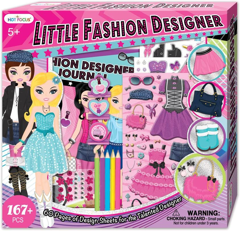 Hot Focus Kids Fashion Designer Kit For Girls To Design And Color Amazon Co Uk Toys Games