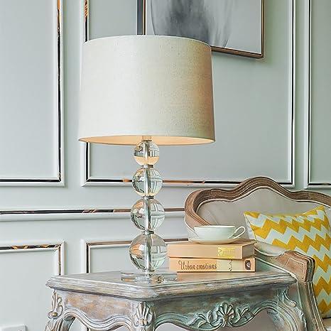 JIEJING Upscale Luxury Table lamp, Modern Spherical Crystal ...