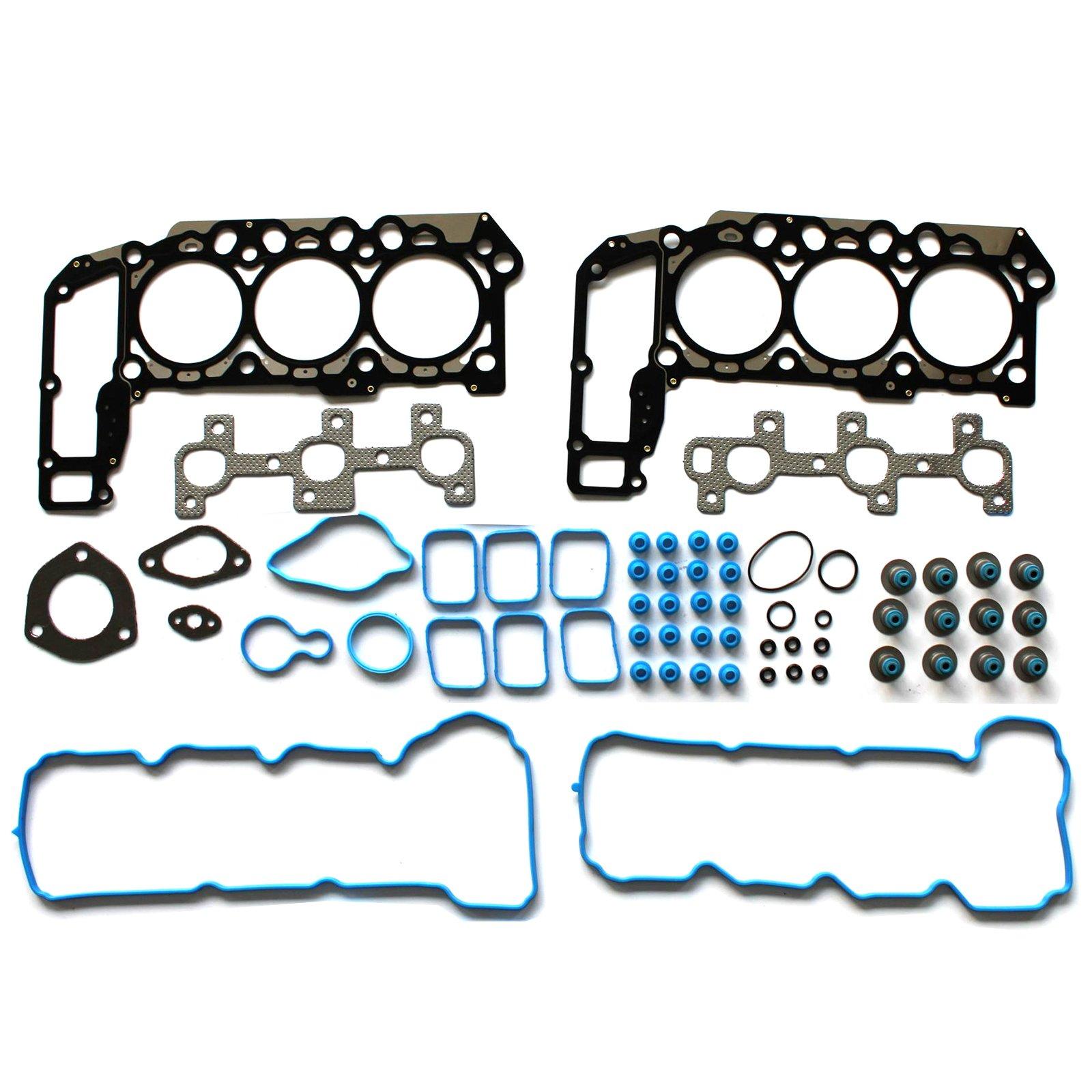 ECCPP Compatible fit for Engine Cylinder Head Gasket Set for VIN K 2005-2012 Dodge Jeep Mitsubishi Ram 3.7L Engine Valve Covers Gaskets Kit