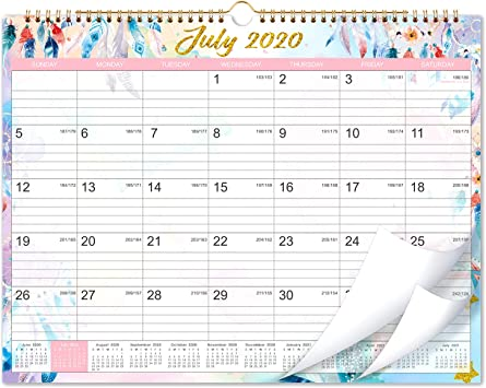 Amazon Com 2020 2021 Calendar 18 Months Wall Calendar 2020 2021 15 X 11 5 Jul 2020 Dec 2021 Flexible Colorful Monthly Calendar Perfect For School Office Home Planning And Organizing Office Products