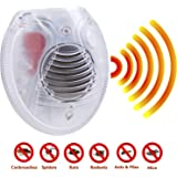 Mice, Rodent, Cockroach and Rat Repellent Ultrasonic Device - Best Humane Electronic Pest Control for Home
