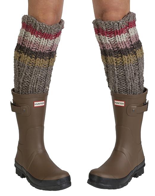 Pachamama handmade socks - Calcetines hasta la rodilla - para mujer Rose, Grey, Multicoloured: Amazon.es: Ropa y accesorios