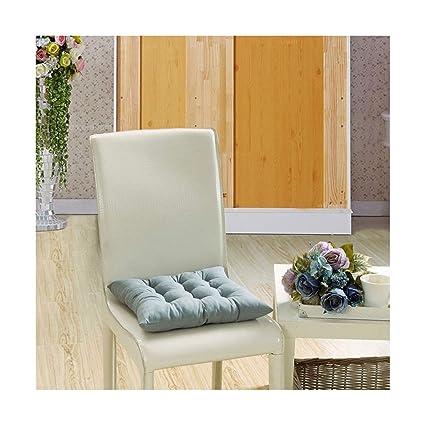 Amazon.com: Cojines para silla de color liso con forma ...