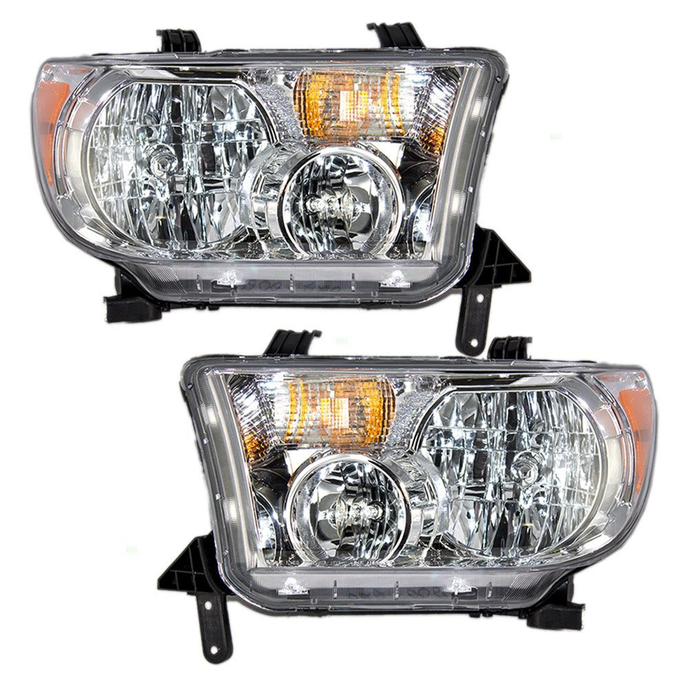Toyota Tundra Replacement Headlight Assembly 1 Pair 2000 Fog Light Wiring Diagram Automotive