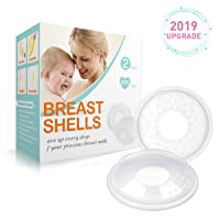 Breast Shells, Milk Saver for Breastfeeding – 2 Pack, Soft Nipple Shells, Nursing Cups to Protect Cracked, Sore, Engorged Nipples & Collect Breast Milk Leaks