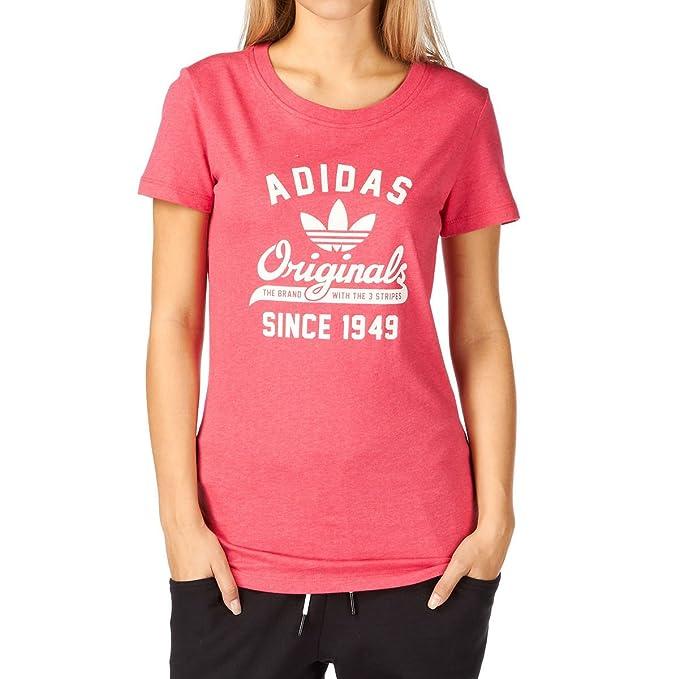 adidas Originals camiseta College Q3 para mujer (rosa)