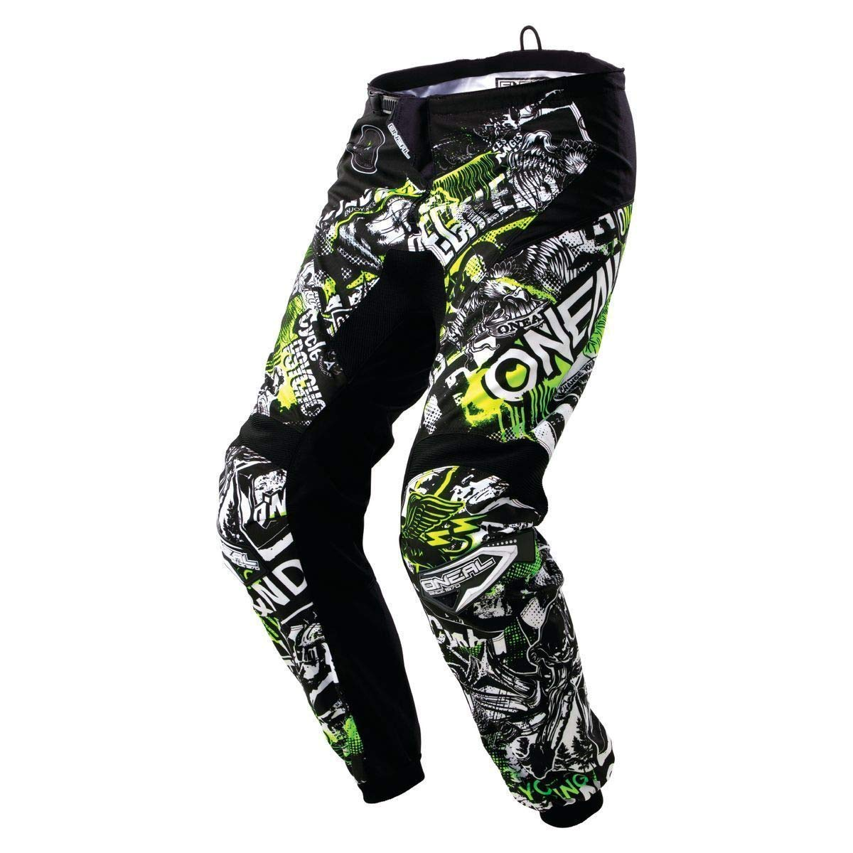 Black//Hi-Viz, Size 30 ONeal Unisex-Adult Element Attack Pant