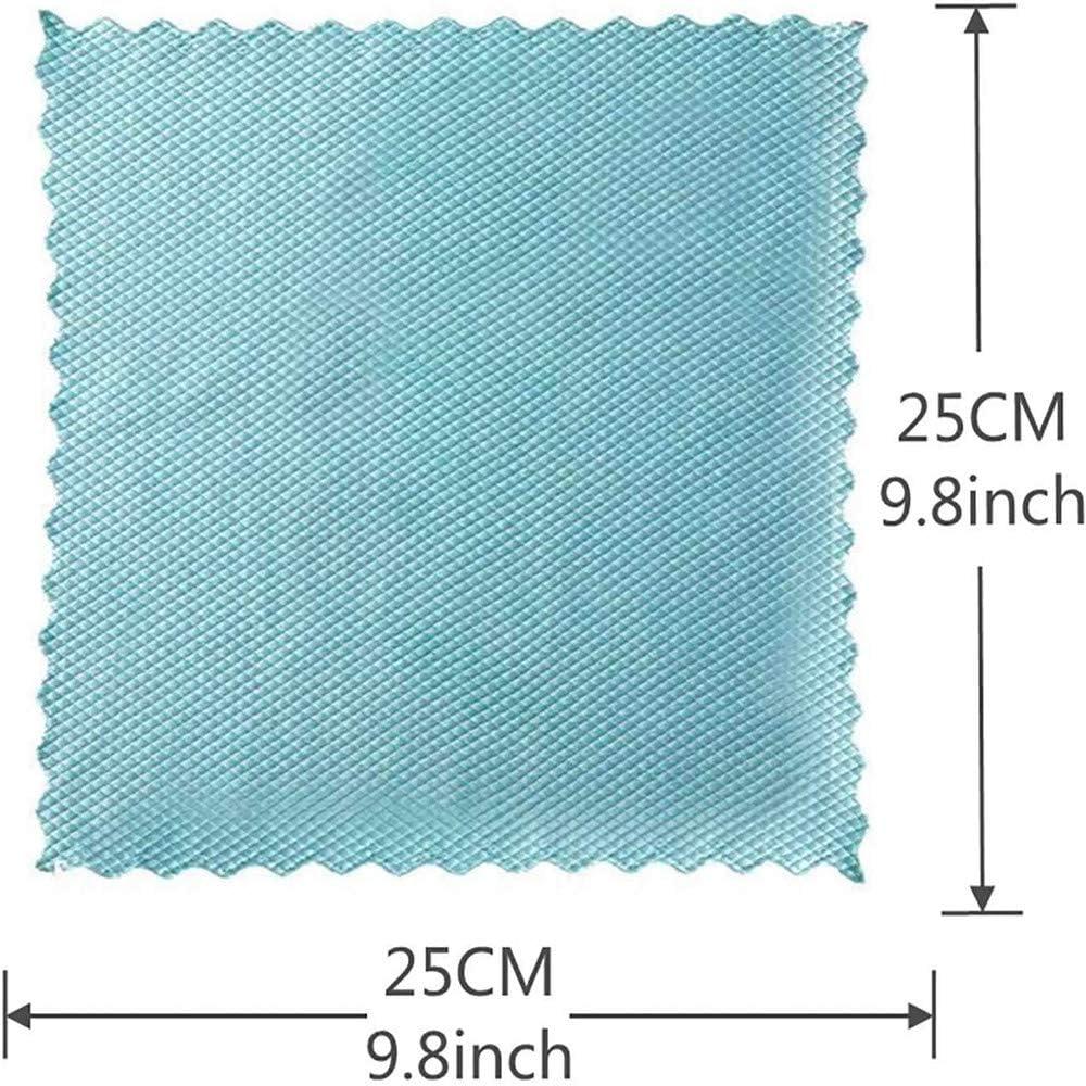 Magic Polishing-Reinigungst/ücher 10 St/ück Fischschuppen-Mikrofaser-Poliertuch Wiederverwendbares Wellenmuster-Fischschuppen-Tuch