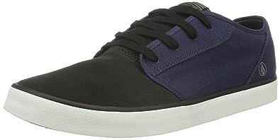 Volcom Grimm 2 Shoe, Baskets Basses Homme, Noir-Schwarz (Black on noir), Taille 43