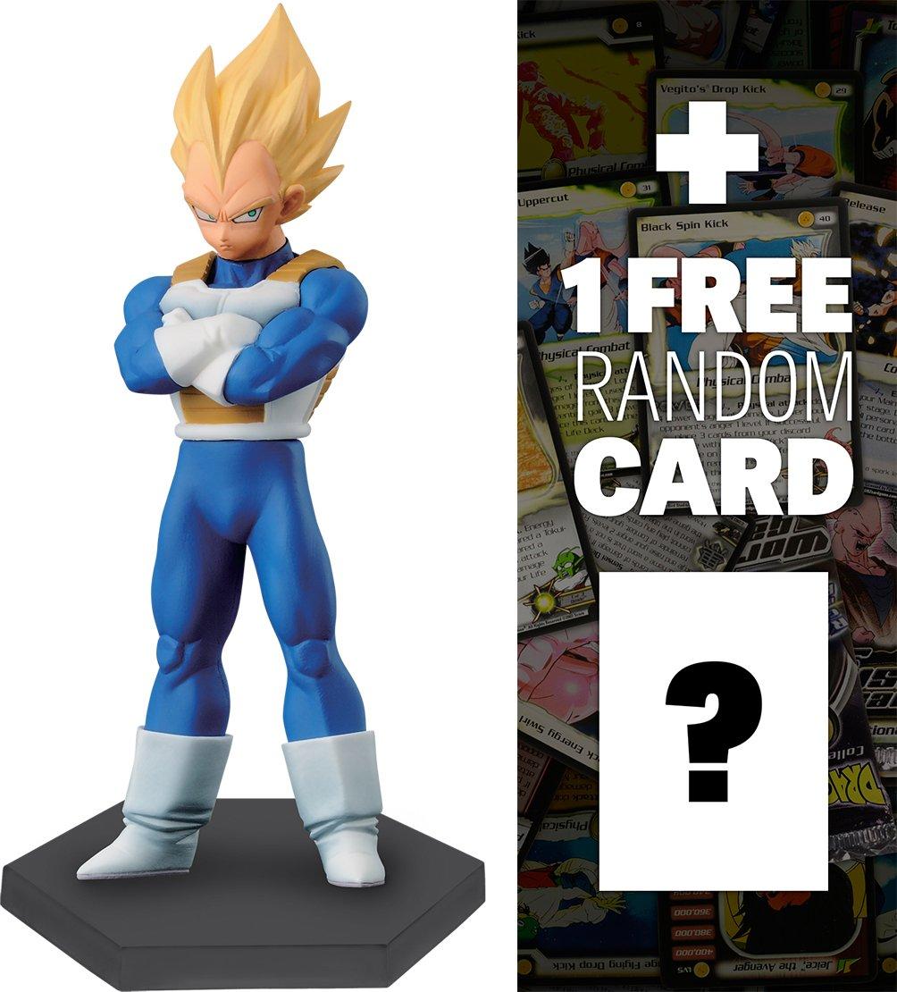 Dragonball Z Super Saiyan Vegeta: ~5.5 Chozoushu The Figure Collection 1 FREE Official DragonBall Trading Card Bundle 362213 Banpresto BCC9R4Z4