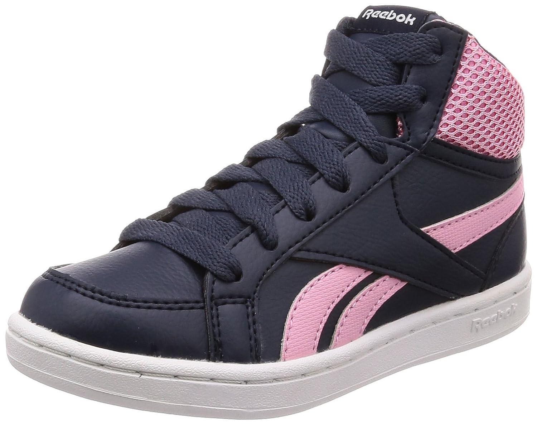 Reebok 33 Royal Prime Mid, Chaussures de Sport Fille 33 Reebok EU|Multicolore (Collegiate Navy/Light Pink/White 000) 3b7dce