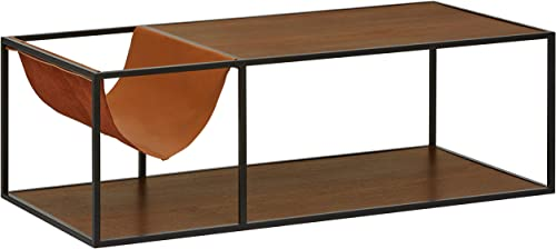 Rivet Heather Modern Coffee Table, 47.2 Inch Width, Walnut
