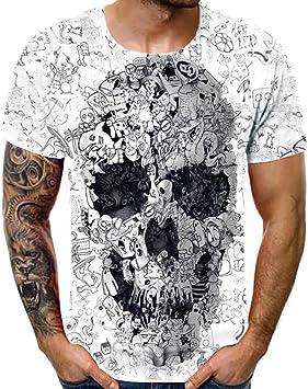 PowerFul-LOT Camiseta de Manga Corta para Hombre, diseño de ...