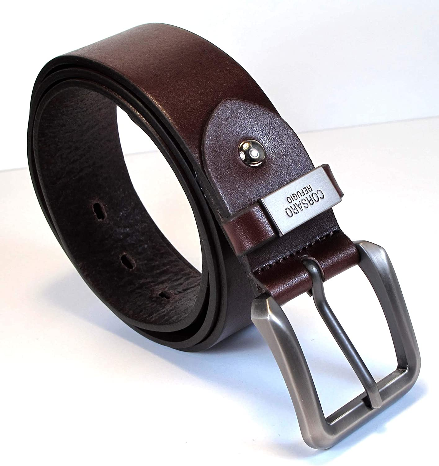 TM7 Mens Real Genuine Leather Belt Black Brown White 1.5 Wide S-XL Casual Jeans