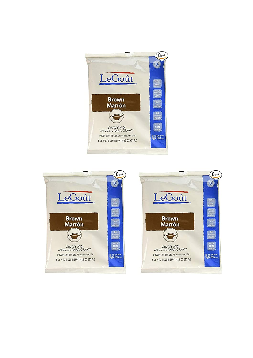 Amazon.com : LeGout Gravy Mix Brown 13.29 oz, Pack of 8 (24 pack) : Grocery & Gourmet Food