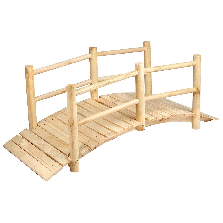 5 Foot Wooden Bridge - Solid Pine