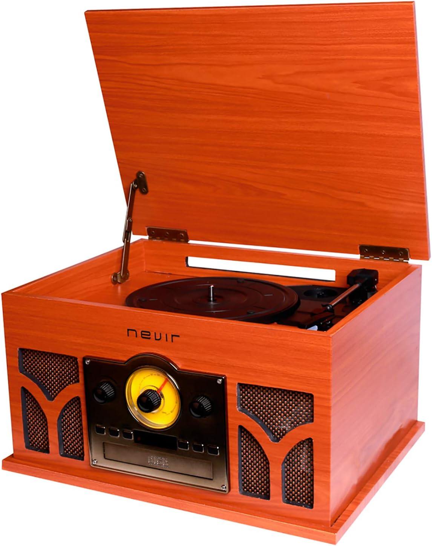 Nevir - Tocadiscos con Radio CD conversor Bluetooth nvr-807vrbuc ...