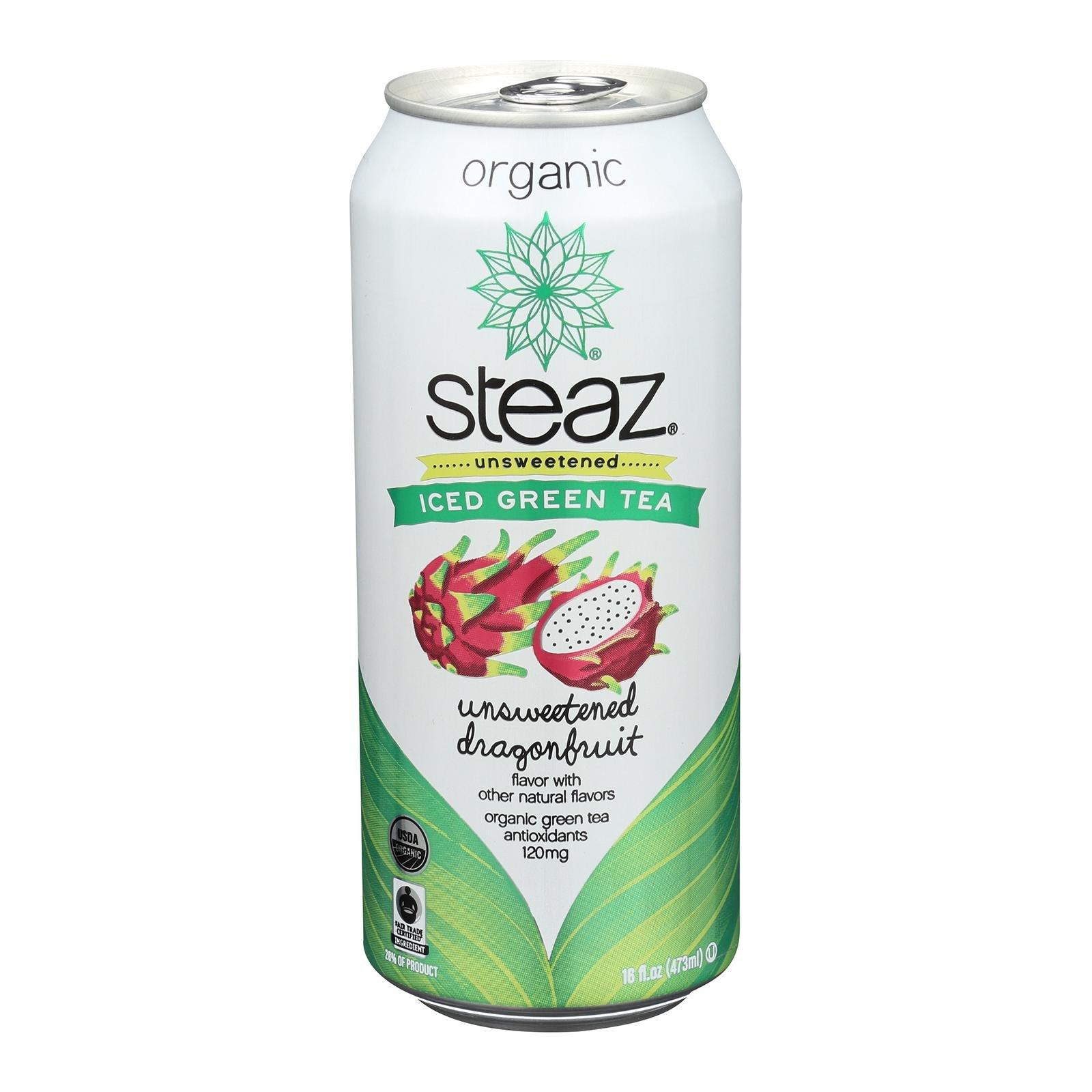 Steaz Zero Calorie Green Tea, Dragon Fruit - (Case of 12-16 fl oz) by Steaz (Image #1)