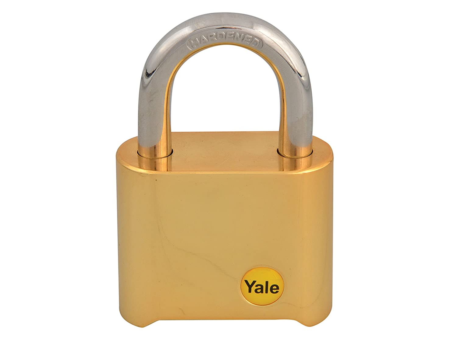 Yale YALY12650 Y126/50/127/1 Brass Combination Padlock 50 mm, Gold Toolbank
