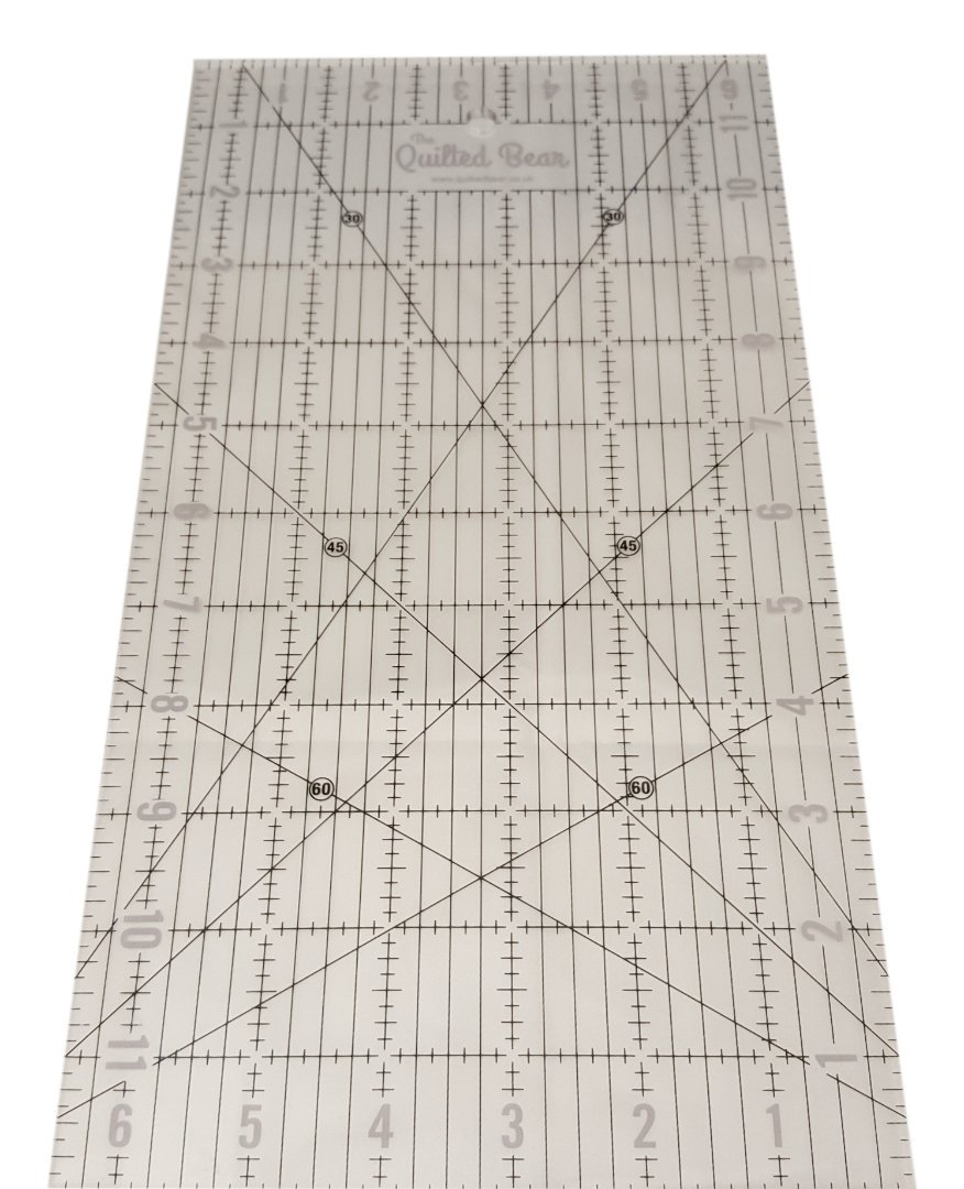 Quilted Bear Transparent Quilting/Patchwork Ruler 6.5' x 12'