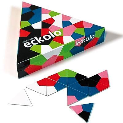 Remember Juego de Memoria Eckolo de 2 a 8 Jugadores, 6 a 99 años, con 76 Tarjetas de Colores, Instrucciones (Idioma español no garantizado): Juguetes y juegos