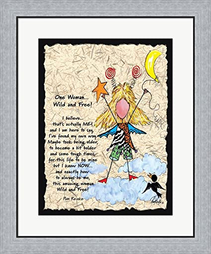 Amazon.com: One Woman by Pam Reinke Framed Art Print Wall Picture ...