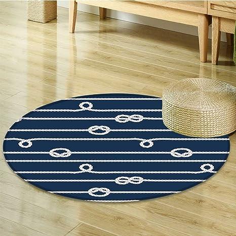 Amazon Com Round Area Rug Carpet Knots Ropes Undone Bine On