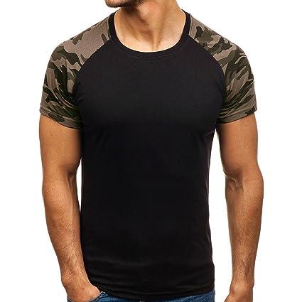 Hombre camiseta manga corta,Sonnena ❤ Camisetas de manga corta de corte slim para