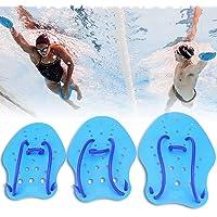 Tbest Aletas de Mano de Natación de Buceo,1 Par Paletas de Mano de Natación de Buceo para Nadar Ajustable Aletas de Mano de Entrenamiento Deportes Acuáticos Buceo Snorkel Surfing para Adultos Niños