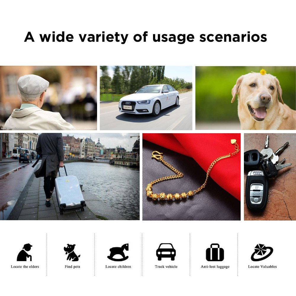 HiOrange GPS Tracker, Positioning of GPS WiFi LBS BeiDou Without Monthly Fee, IP67 Waterproof,Real-time Tracking, Dual-Call SOS Function,Voice Monitoring, Find Locator for Elder,Child,Pet and Car by HiOrange (Image #6)