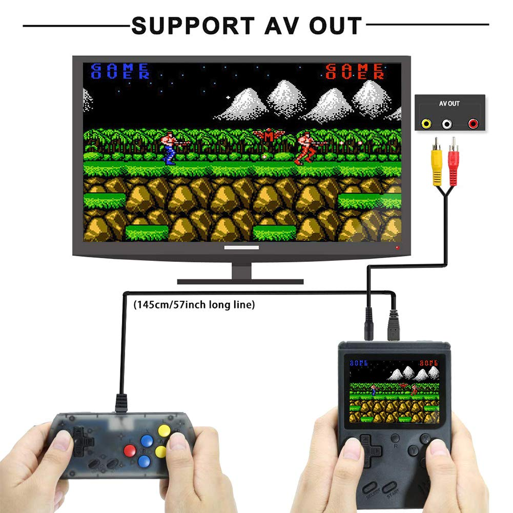 FAITHPRO Handheld Game Console with Built in 168 Games, 2 Player 3 Inch Screen USB Charger Supports TV Output Retro FC Video Game Console, Good Gifts for Kids and Adults by FAITHPRO (Image #4)