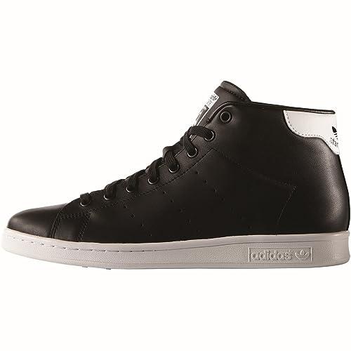 Adidas Originals Stan Smith a mediados s75027 hombres zapatos, Core Negro / blanco