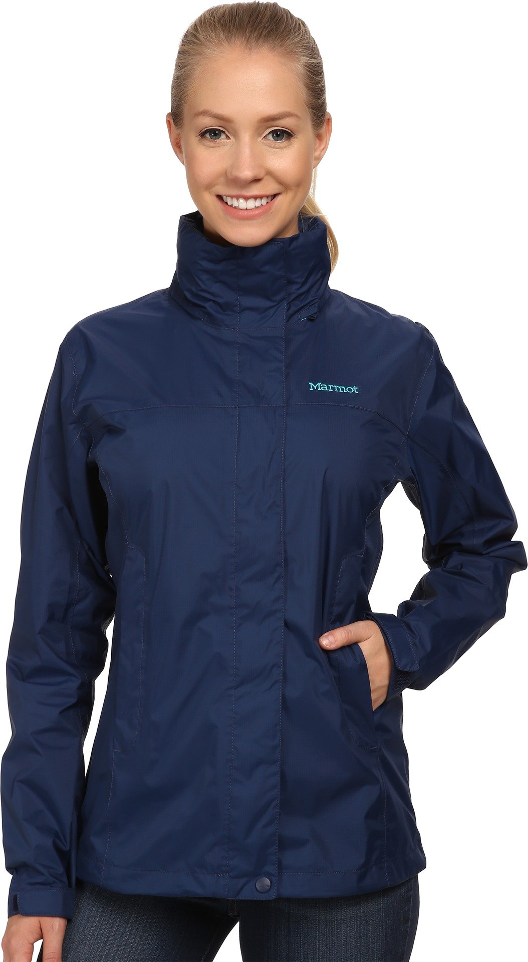 Marmot PreCip Women's Lightweight Waterproof Rain Jacket, Arctic Navy, X-Large