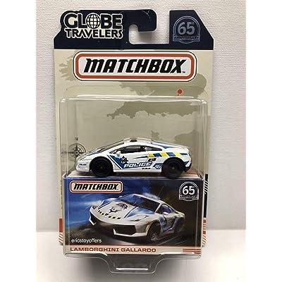Matchbox 2020 Globe Travelers Limited Edition - Gallardo (White - Police): Toys & Games