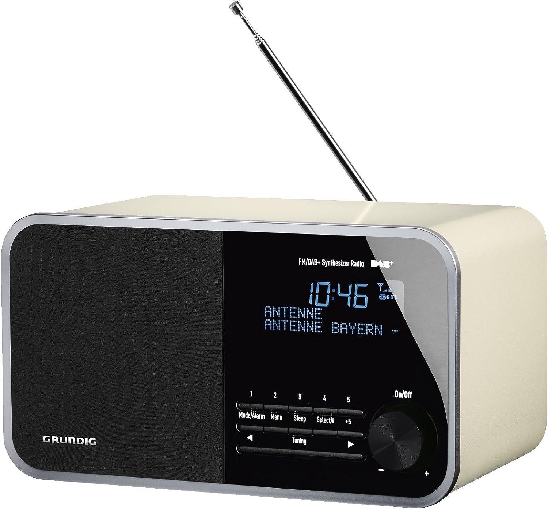 Grundig - TR 16 Tabla de Radio Digital, 16 w pmpo, AUX-in, FM RDS y Dab +  con 16 presintonías Blanco